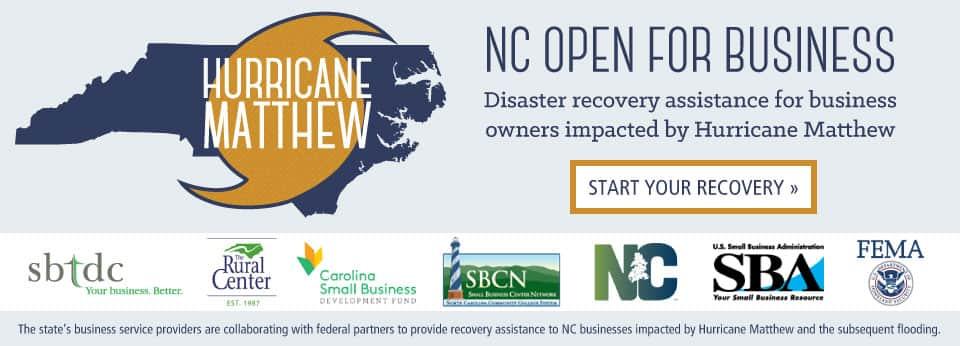 Hurricane Matthew - NC Open For Business