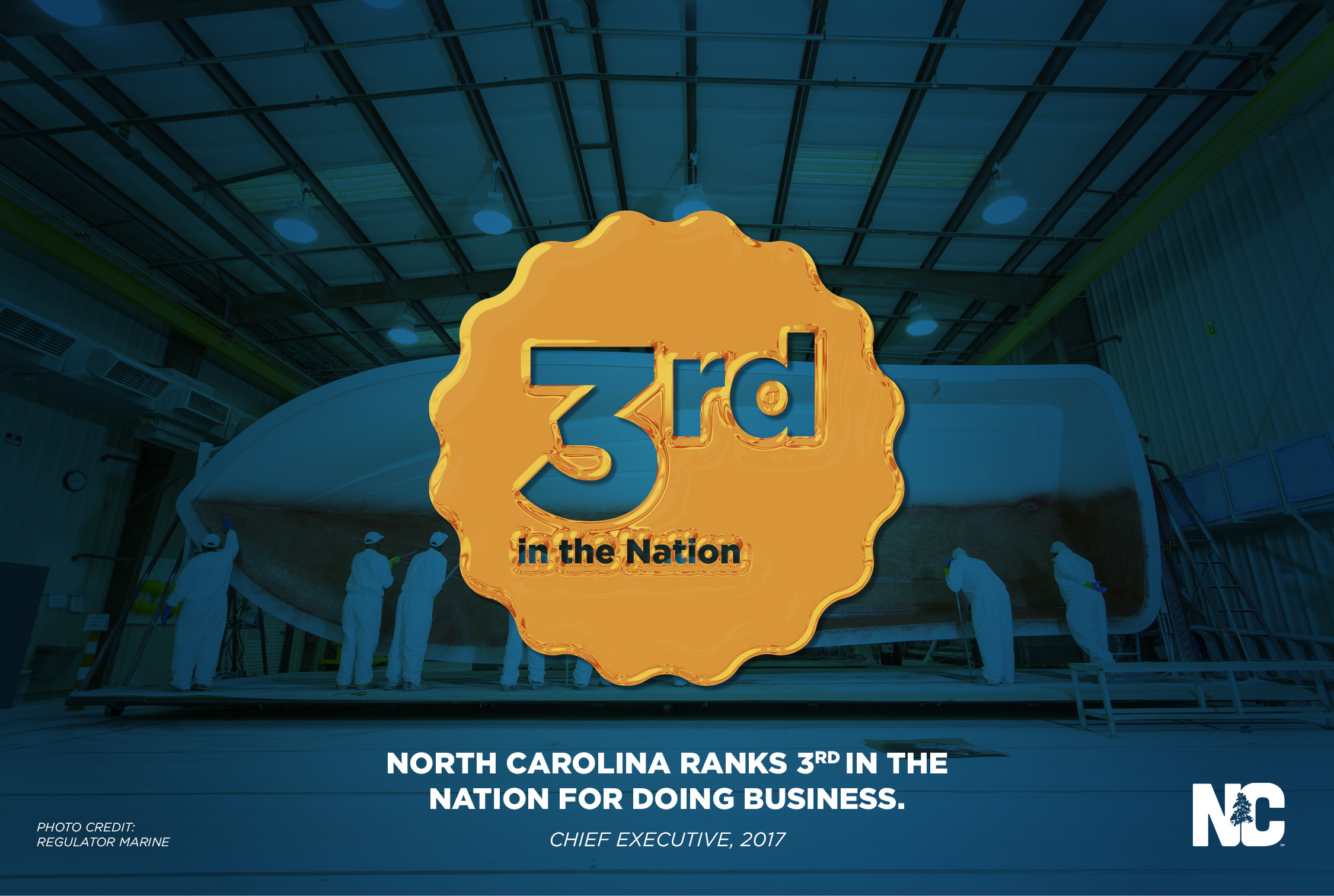 Survey of 500-plus CEOs Ranks North Carolina No. 3 State for Business