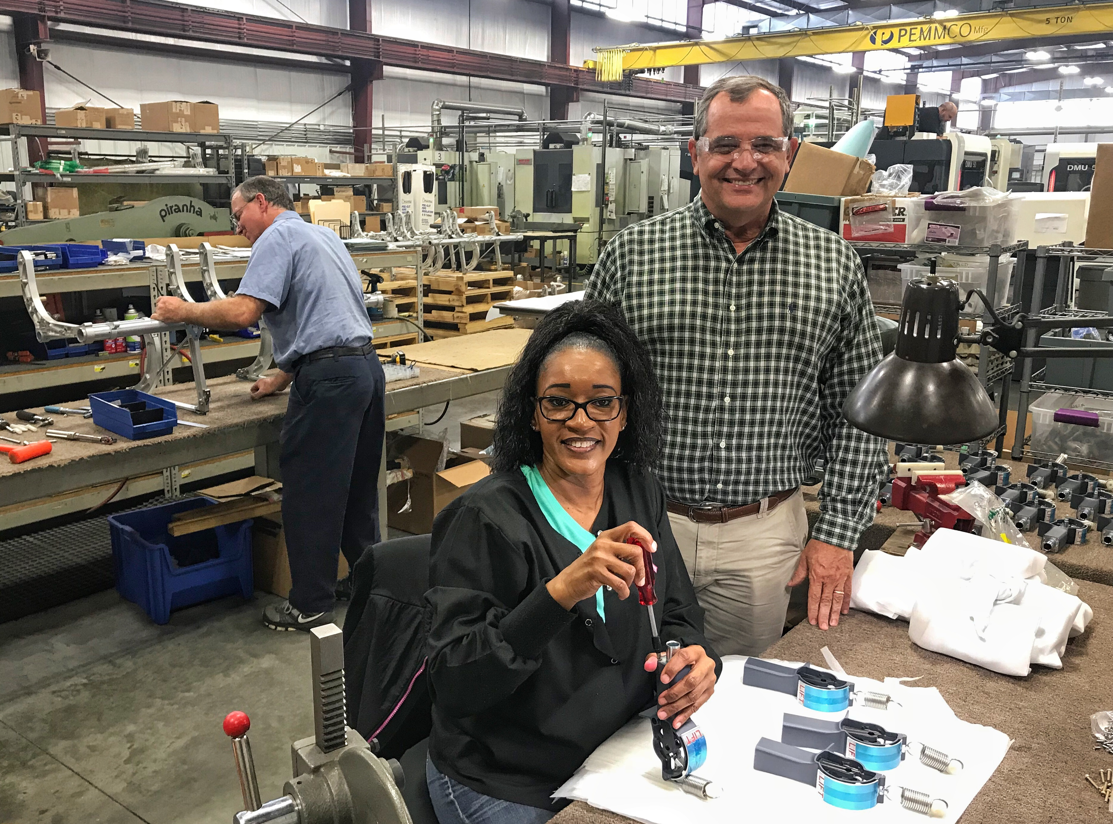 62c704d7056b PEMMCO Manufacturing in Asheboro launched one of six plant expansions  supported by the EDPNC in Randolph County in 2018. Here, company President  Rick Powell ...